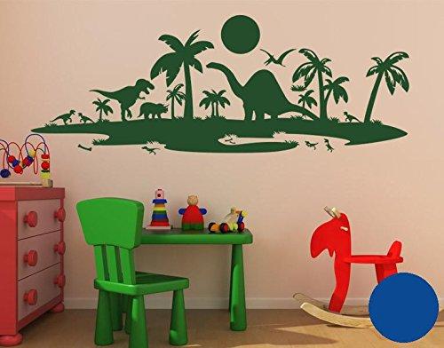 Klebefieber Wandtattoo Dinolandschaft Dinolandschaft Dinolandschaft B x H  100cm x 37cm Farbe  dunkelgrün B071HH49C9 Wandtattoos & Wandbilder 41b4c9