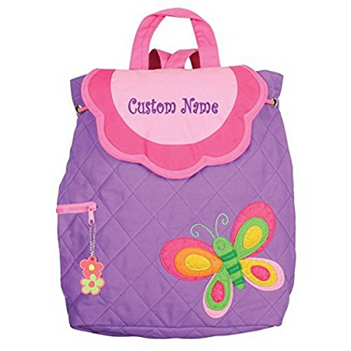 DIBSIES Personalization Station Personalized Purple Butterfly Embroidered Backpack -