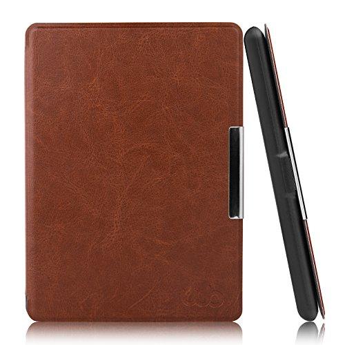 Capa Case Kindle Paperwhite WB Auto Liga/Desliga - Couro Premium Marrom