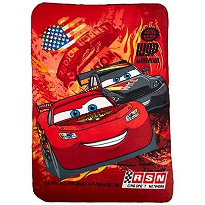 Disney Cars Blanket Fleece Throw Lightning Mcqueen 46