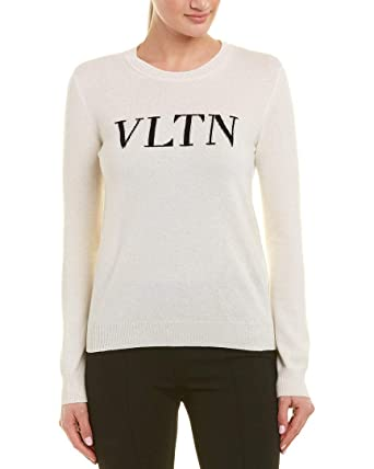 Vltn White Wool S Blend Womens Sweater At Cashmere amp; Valentino 8S5xEqH