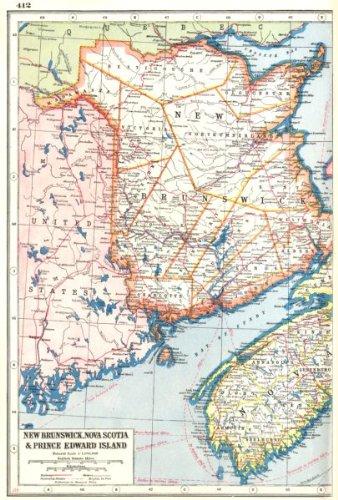 Map Of Canada New Brunswick.New Brunswick Nova Scotia West Canada Railways Harmsworth