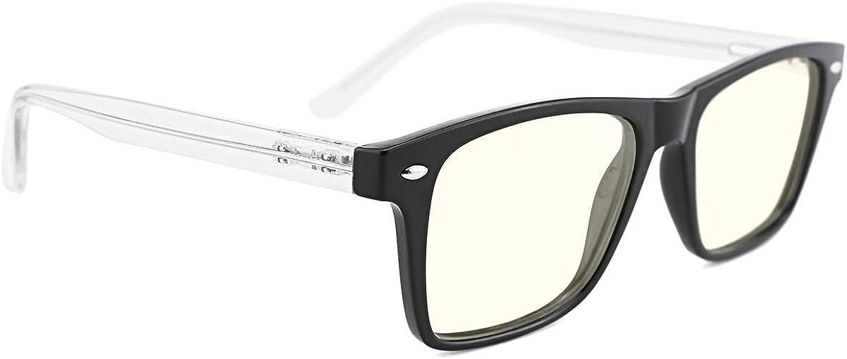 TIJN Blue Light Blocking Glasses Computer Gaming Eyeglasses anti Eyestrain Eyewear for Women Men