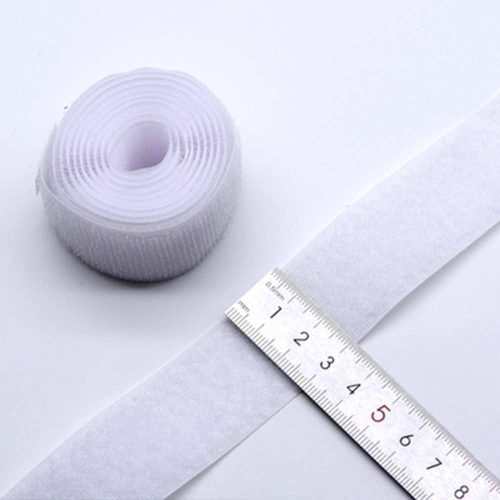 41 Feet Self Adhesive Hook and Loop Tape Roll Sticky Back Strip Adhesive Backed Fabric Fastener Mounting Tape-1inch Wide