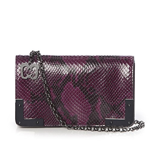Eric Javits Luxury Fashion Designer Women's Handbag - Cassidy - Plum by Eric Javits