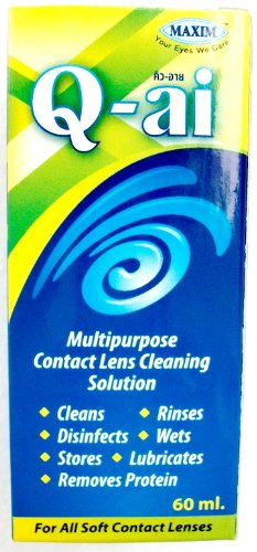 Q-ai, solution de nettoyage lentille de contact multi-usage (60ML = 2.02 Oz)