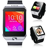 Indigi® 2-in-1 Interconvertible GSM + Bluetooth Smart Watch For All iPhone 6, iPhone 6 plus, Galaxy S5, Note 4 etc. (Silver)