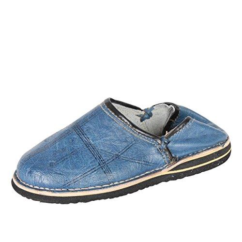 albena Marokko Galerie Unisex Marokkanische Schuhe Leder Pantoffel Tafrout (46, Natur)