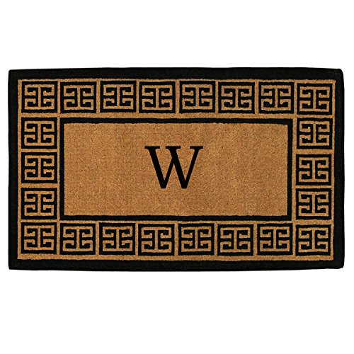 Personalized Front Door Mats (Home & More 180092436W The Grecian Extra-thick Doormat, 24