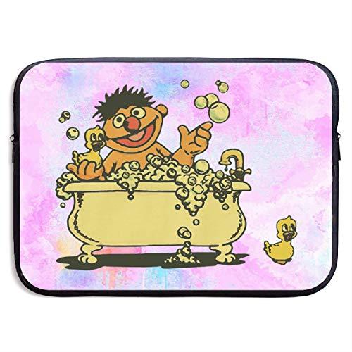 Kim Mittelstaedt Vintage Ernie in Bathtub Multi-Functional Portable Notebook Computer Sleeve Case Bag/Handbag for 13/15 Inch - Ernie Bathtub