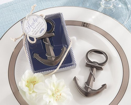 Anchor Nautical-Themed Bottle Opener [SET OF 24] by Kate Aspen, Inc. Wedding Favors