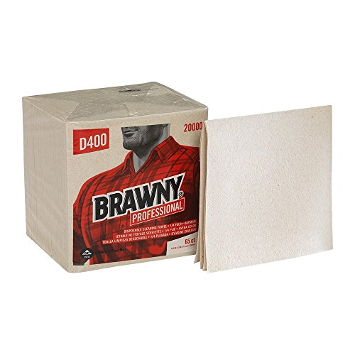 GP PRO Brawny Professional D400 Disposable Cleaning Towel, 1/4-Fold, Oatmeal (Commercial Oatmeal)