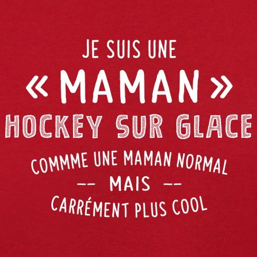 une maman normal hockey sur glace - Femme T-Shirt - Rouge - XXL