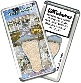 """product image for Biloxi """"FootWhere"""" Souvenir Fridge Magnet. Made in USA (BX204 - Welcome)"""