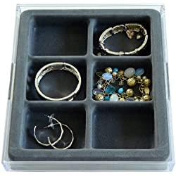 Axis International Marketing Watches, Bracelets and Large Earring Jewelry Organizer with Velvet Tray, US Patented