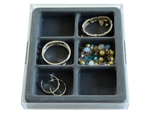 Watches, Bracelets and Large Earring Jewelry Organizer with Velvet Tray, US Patented (Bracelet Large Watch)