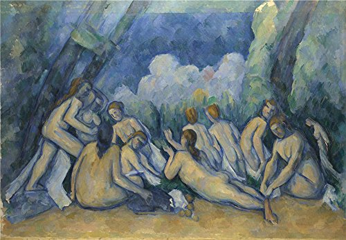 Oil Painting 'Paul Cezanne Bathers (Les Grandes Baigneuses)' 24 x 34 inch / 61 x 88 cm , on High Definition HD canvas prints is for Gifts And Foyer, Home - Outlets Map Tampa