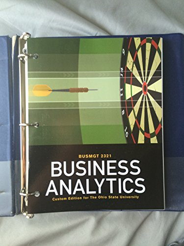 Business Analytics, BUSMGT 2321, The Ohio State University