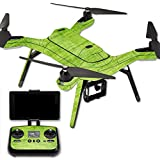 MightySkins Protective Vinyl Skin Decal for 3DR Solo Drone Quadcopter wrap cover sticker skins Green Fabric