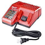 #10: Milwaukee 48-59-1812 M12 or M18 18V and 12V Multi Voltage Lithium Ion Battery Charger w/ Onboard Fuel Gauge