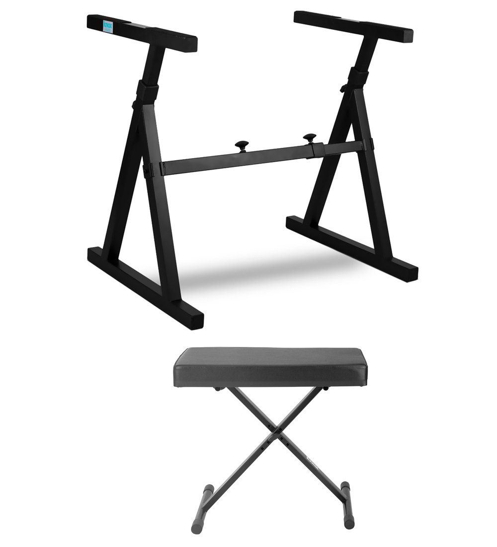 Knox Z-Style Electronic Keyboard Stand with Adjustable X Style Keyboard Bench Kno-5684
