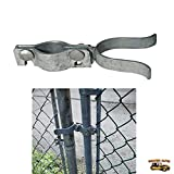 Chain Link Fence Gate Latch - Chain-Link Fork Latch Repair Kit For 1 3/8'' Chain Link Fence - Replacement Parts For Kennels, Fence Doors, Temporary Fencing