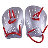 Pair Rubber Swimming Webbed Gloves - yingfa Pair Gray Rubber Swimming Hand Paddles Webbed Gloves M