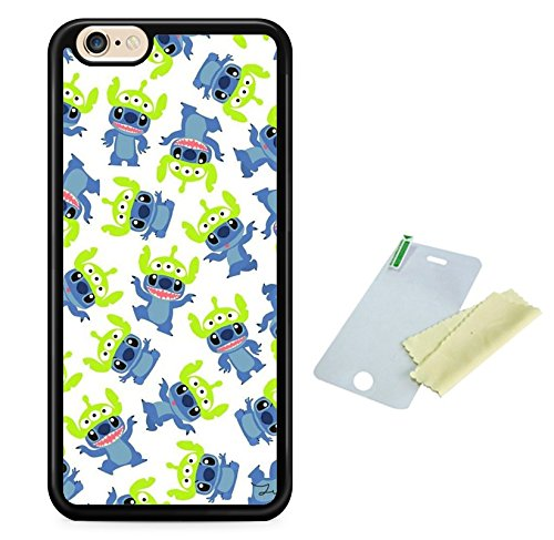Coque silicone BUMPER souple IPHONE 6/6s - LILO & STITCH mignon motif 2 DESIGN case+ Film de protection OFFERT