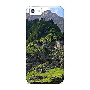 Iphone 5c Case Cover Skin : Premium High Quality Mountain Green Part Case