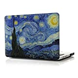 iCasso New Art Fashion Image Series Ultra Slim Light Weight Rubberized Hard Case Glossy Clear Crystal Snap-On Hard Cover Case for MacBook Pro 13 inch (Model: A1278) - Starry Night