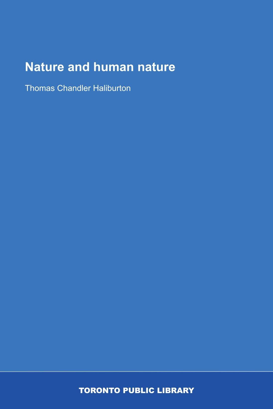 Nature and human nature pdf