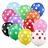 Sopeace 100pcs 12'' Mix color Polka Dot Balloons Latex Balloons for Parties, Birthdays, and Events
