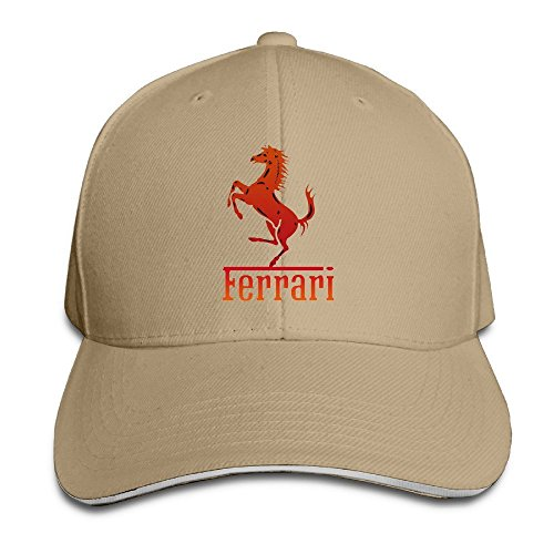 maneg-ferrari-team-sandwich-peaked-hat-cap-natural
