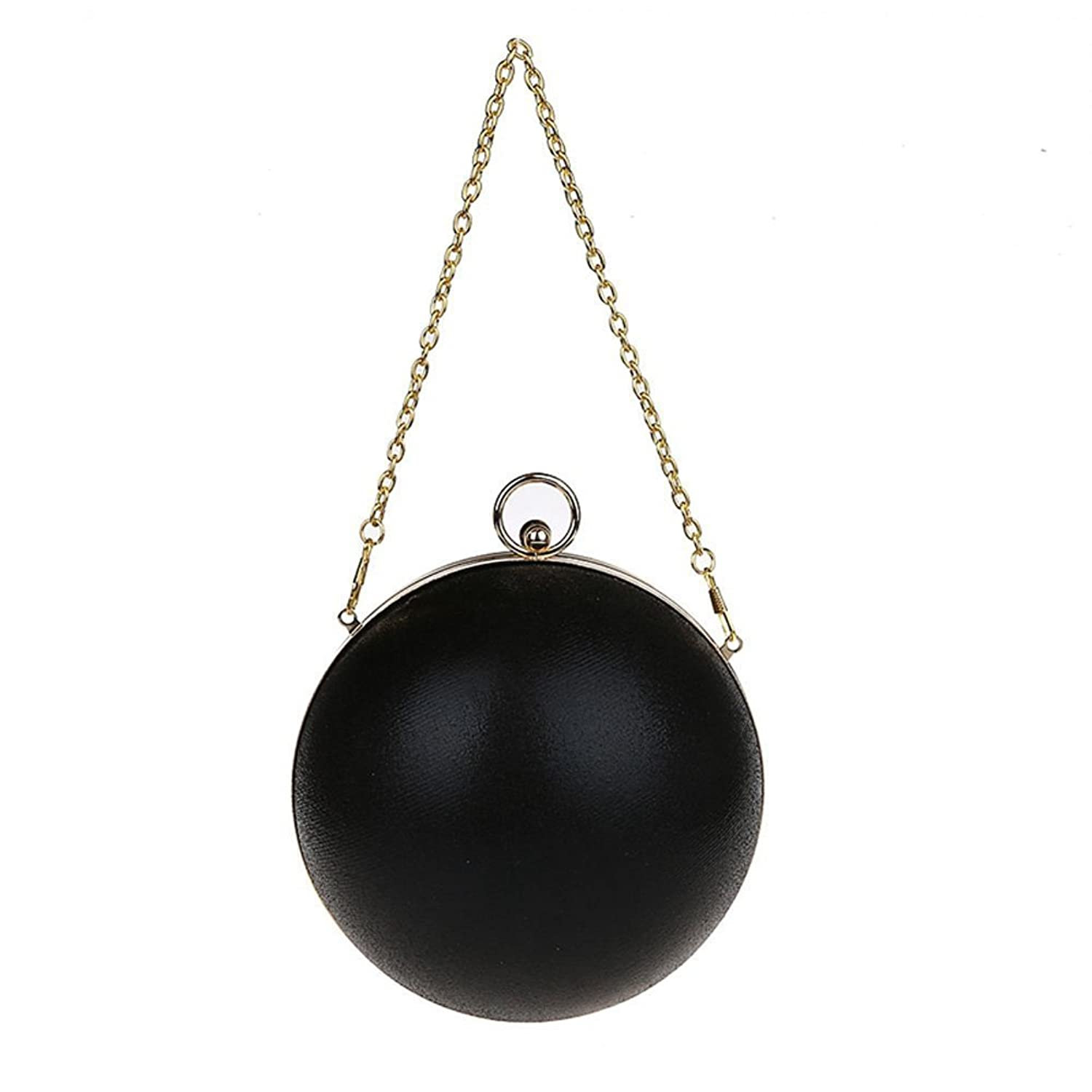 YOUAREFACNY Women's Fashion Round Ball Chain Small Prom Handbag