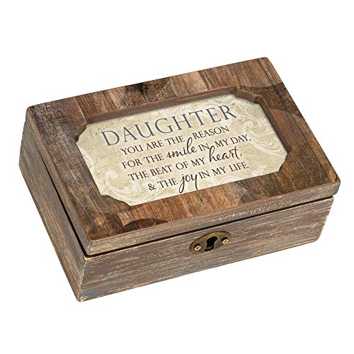 Cottage Garden Daughter Smile Joy Woodgrain Decoupage Petite Music Box Plays You are My Sunshine ()