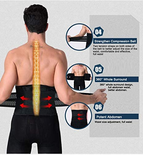 Aaiffey Lower Back Brace - Lumbar Support for Women & Men -Adjustable Compression & Breathable Waist Trainer Belt Weight Loss for Gym, Posture, Pain Relief 3
