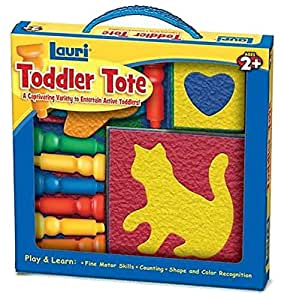 Lauri Toddler Tote Travel Toy Special Needs Peg Board & Puzzles