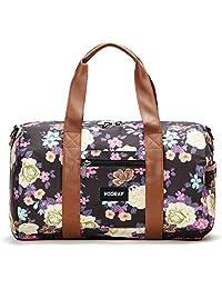 """Vooray Roadie 16"""" Small Gym Duffel Bag, Macana Floral Black"""