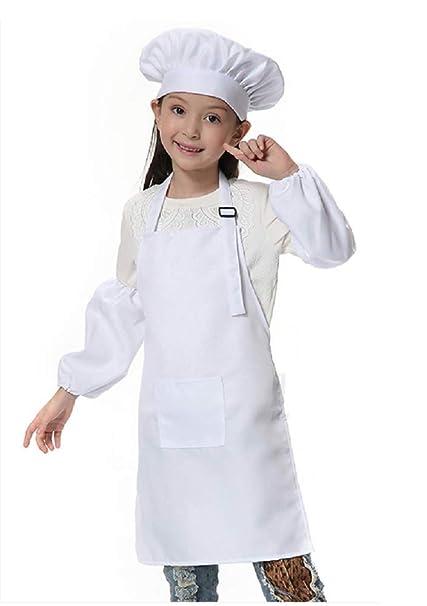Blanco) Talla única - Traje - Uniforme - Chef - Chef - Niños ...
