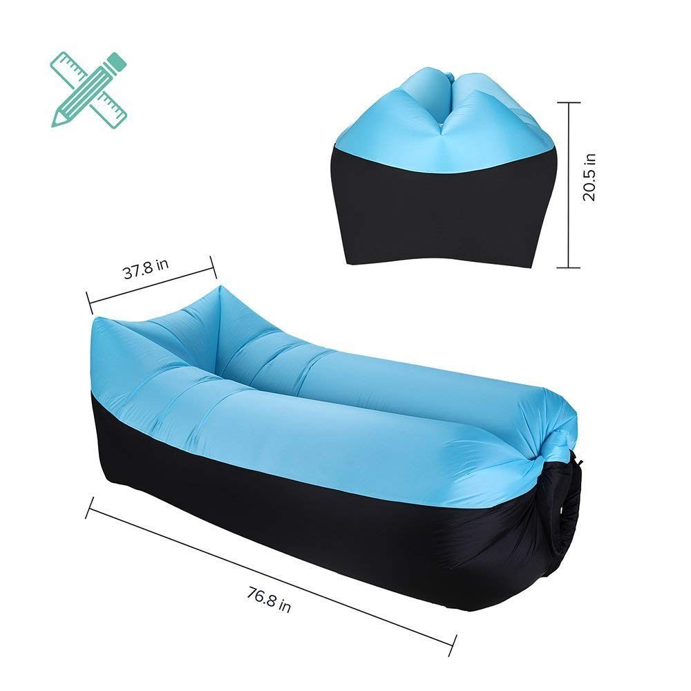 Sable Inflatable Air Lounger Portable Air Sofa Couch With 2 Pockets