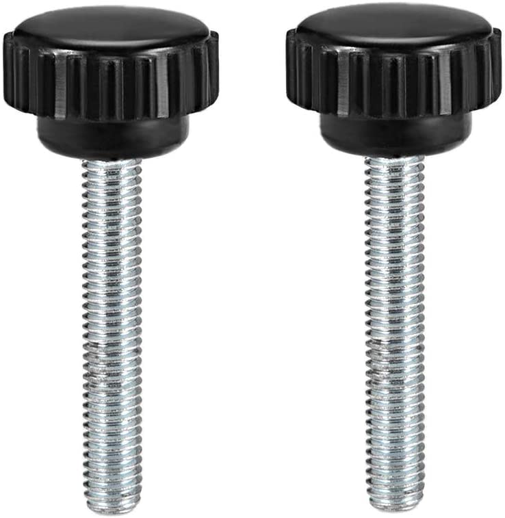 uxcell M4 x 30mm Male Thread Knurled Clamping Knobs Grip Thumb Screw on Type 2 Pcs