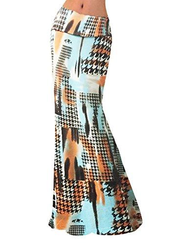 Novias Boutique - Jupe - Trapze - Femme XL - - Medium Pied-de-poule