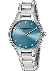 Raymond Weil Womens Noemia Swiss Quartz Stainless Steel Dress Watch, Color:Silver-Toned (Model: 5132-STS-50081)