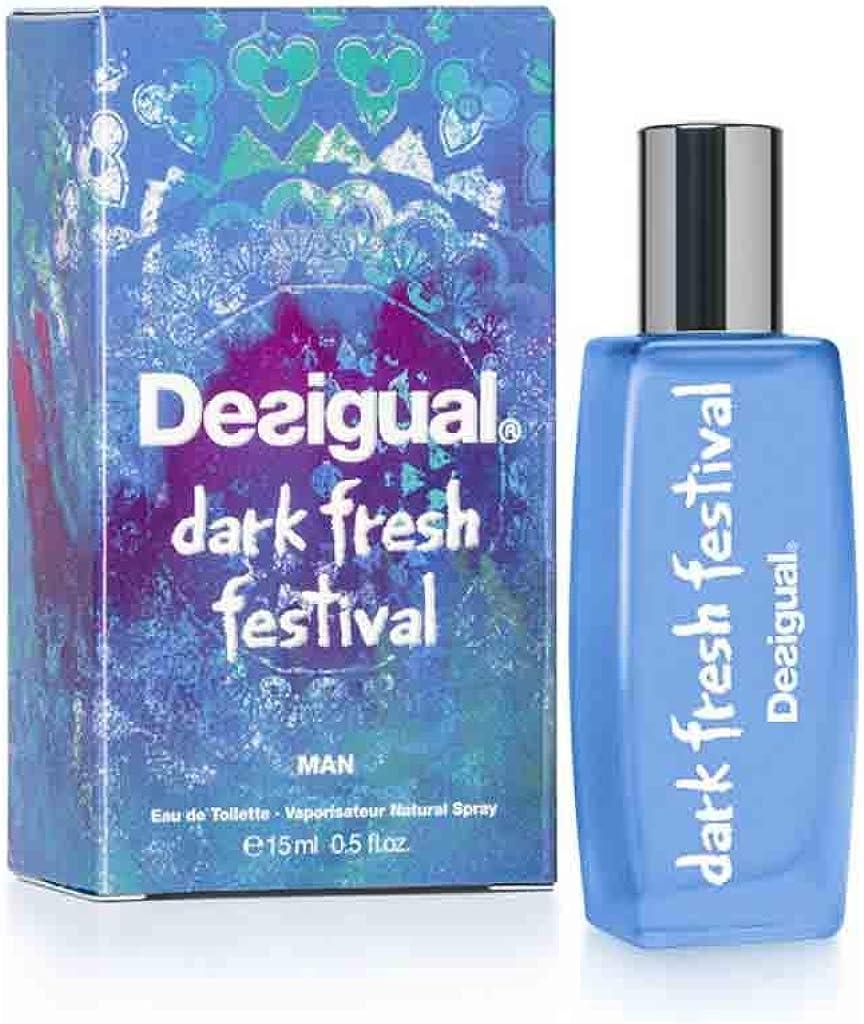 DESIGUAL Dark Fresh Festival Eau DE Toilette Man 15ML VAPORIZADOR Unisex Adulto, Negro, Único: Amazon.es: Zapatos y complementos