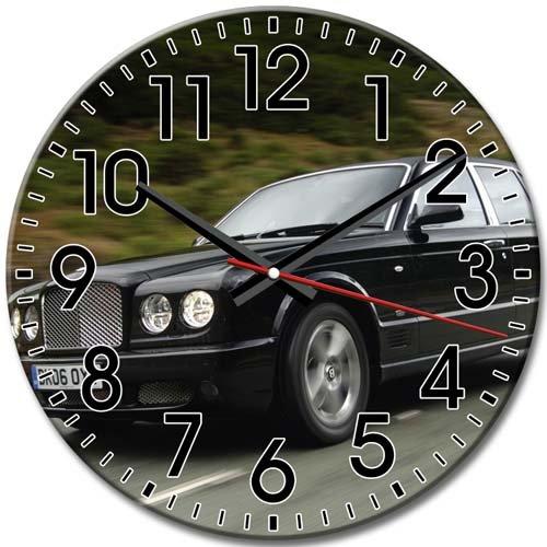 Round Wall Clock Bentley Silent Arabic Numbers Frameless High-definition Kitchen/Living Room 10 Inch / 25 cm Diameter (Bentley Clock)