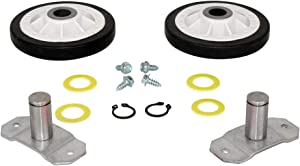 LA-1008 Drum Support Roller & Axle for Whirlpool Admiral Magic Chef Maytag Norge New Dryer Roller Shaft Kit 31001096