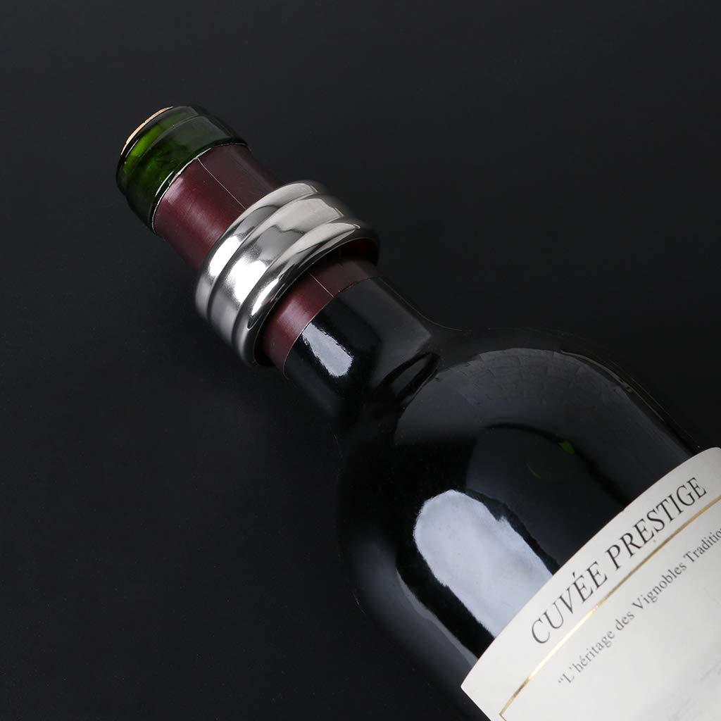 2/unit/à Nero Lunji in Acciaio Inox Vino Anello salvagoccia