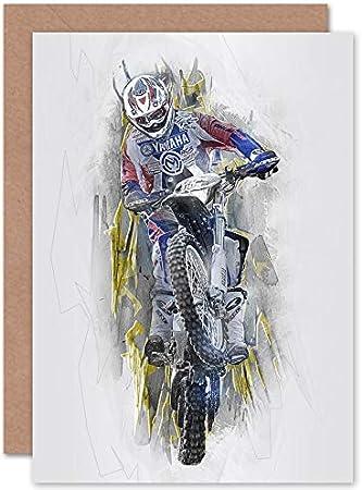 Personnalise Motocross Moto Racing Anniversaire Carte De Vœux Toute Occasion Espacodademocracia Com Br