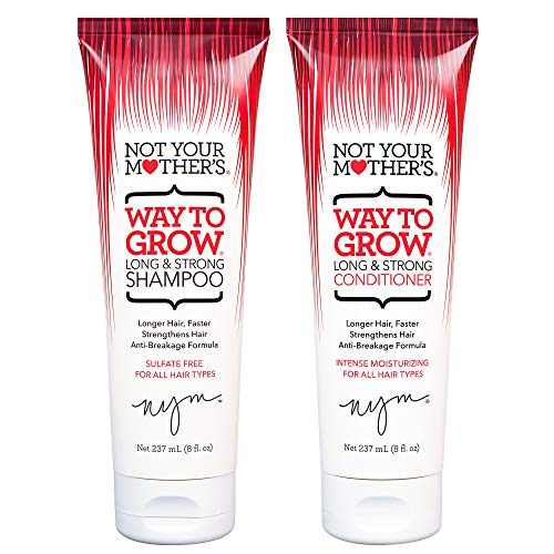 Not Your Mother's Way To Grow Shampoo & Conditioner Duo Pack 8 oz (1 of each) (Best Hair Product For Long Thick Hair)