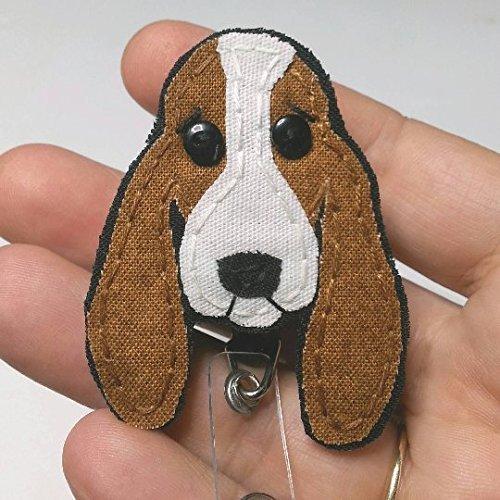 Basset Hound Badge Reel,Hound Dog Badge Holder,Basset Hound,Dog,Badge Card Holder, ID Holder,Nurse ID,Handmade Badge Reel,Hound,dog lover gift, Nurse Badge Holder